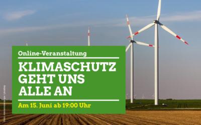 Online Veranstaltung - Klimaschutz geht uns alle an - Am 15. Juni ab 19:00 Uhr